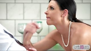 Stunning milf India Summer sucks off and pussy ripped good