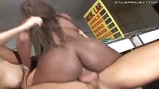 Nina Savage - Hardcore Brazilian anal threesome