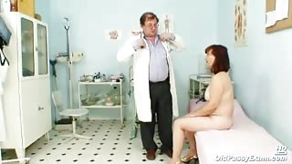 Old Zita Gets Vag Examination Inside Doctor's Clinic