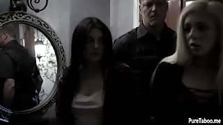 Petite teen virgins fucked by a corrupt cops fat cock