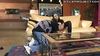 Skinny Deja Daire fucking in stockings and pumps