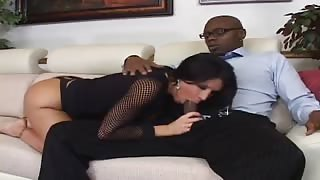 Busty Brunette Mom Sucks Cock And Pounds Rod