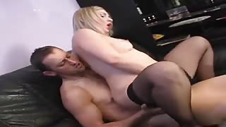 Blonde babe gives head and pounds hard wankie
