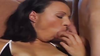 Brunette chick gets boners in bottom and snatch