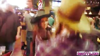 Cowgirl bffs full on orgy fuck fest