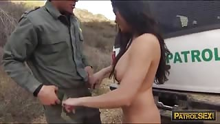 Big tits latin babe banged by BP officer in many positions
