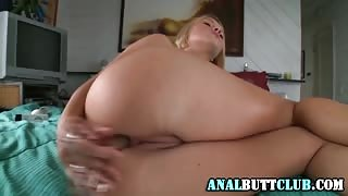 Booty babe gets anally toyed
