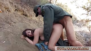 Two police girls Kayla West was caught lusty patrool during border