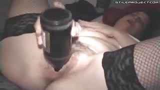 Mature Hairy Pussy Bottle Fuck