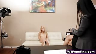 Nubile Young Blonde Gives Amazing Blowjob During Her Audition