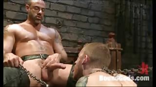 Strong man fucked his tied up butt