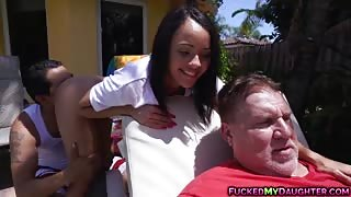 Holly Hendrix ass fucked with dad's friend