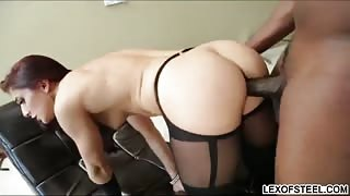Mischa worships big black cock before her asshole gets probed