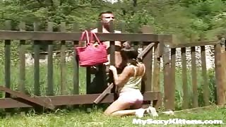 Backwoods Babe Wrangles A Hung Bull