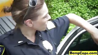 BBW cock hungry police women hot rimjob service on their tight asshole