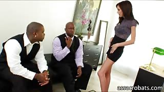 Hillary Scott enjoys her first double fuck experience
