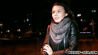 Cute Czech babe Vanessa Decker pounded in the car for money