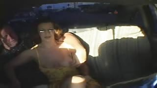 Mature Couple Have Sex On Backseat of Cab!