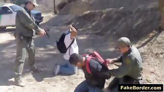 Magnificent Latina slut banged hard outdoor on the border by a patrol guy