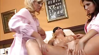 Needy Slut Gives Up Her Vag And Ass To Lezzie Fuck Fest