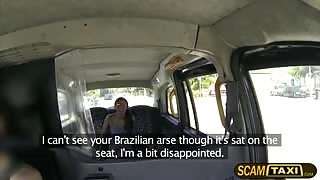 Hottie Brazilian chick Roxi rides a Scottish cock in the backseat and fucks her hard