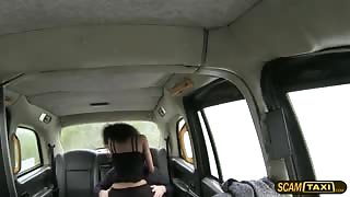 Petite tight pussy loves the drivers huge hard cock