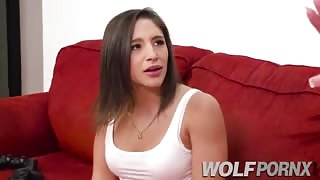 I have lesbian sex with the whore of my roommate Abella Danger who only knows how to lick my pussy