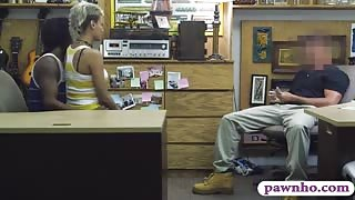 Nasty BF pawns her GFs pussy at the pawnshop for money