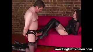 Domina likes her high boots full of cum