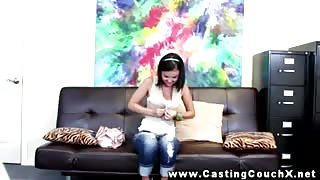 Innocent looking girl at CastingCouchX
