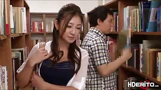 College babe Chika gets fuck in library