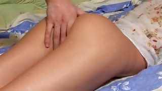 Longhaired brunette erotica with bigcock