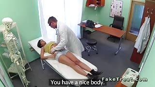 Doctor licks and fucks sexy patient