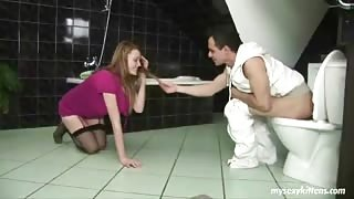 Adorable Gal Screwed In Rest Room