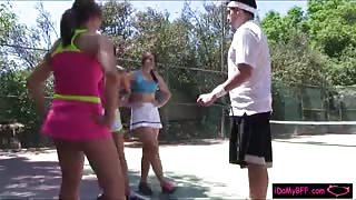 Rose Red and her best friend fucked their tennis instructor