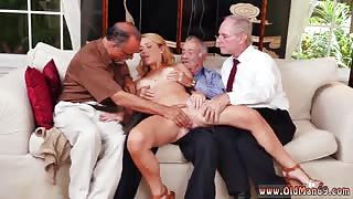 Old granny threesome frankie and the gang tag team