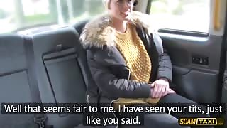 Euro lady gets pussy rammed from behind by the drivers dick