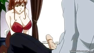 Hentai gal forced into suck and fuck