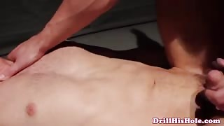 Unmerciful gay top ass slamming bottomless pool backdoor