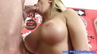 POV blowjob lover deepthroats guy