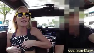 Blonde bimbo tries to sell car, sells herself