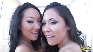 Two Horny Asian College Sluts Share One Hung Rod