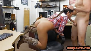 Texas cowgirl gets her asshole reamed at the pawnshop