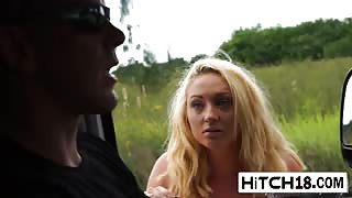 Teenage Hitchhiker Keely Jones Gets Pussy Licked And Hammered In Stranger's Van
