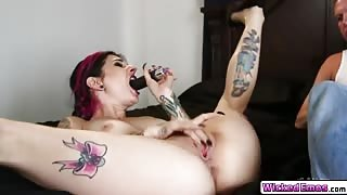 Sweet hottie Joanna Angel fucks hard meaty dick