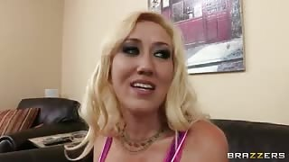 Blonde Alana Evans enjoys sucking and having sex
