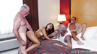 Old men big cocks Staycation with a Latin Hottie