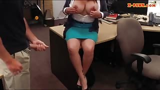 Big tits milf pounded by horny pawn guy to earn extra cash