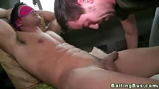 Real baited straight dude tricked into gay bj