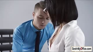 Secretary Sheri gives boss a quickie